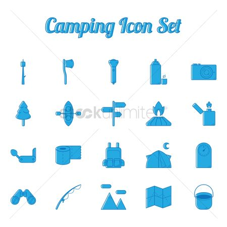 Lighter : Camping icon set