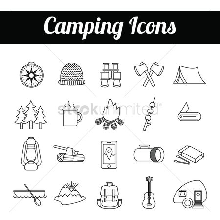 Torch : Camping icons