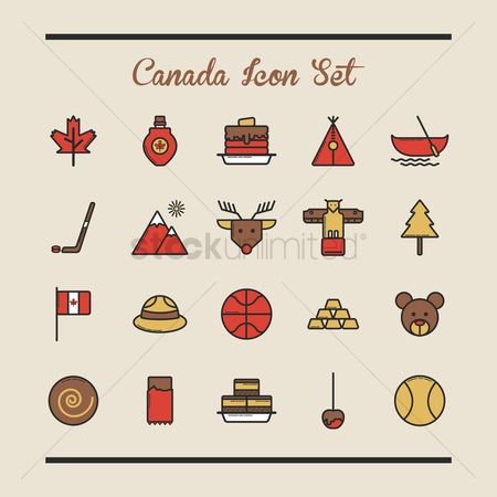 Baseball : Canada icon set