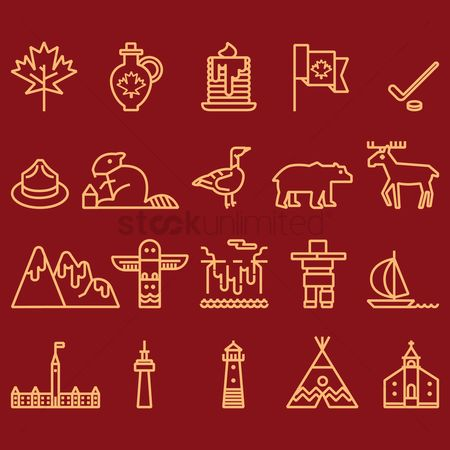 Lighthouses : Canada icon set