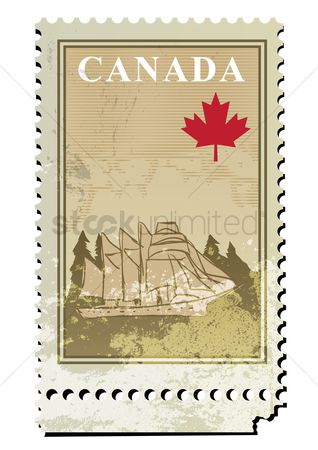 Yachting : Canada postage stamp design