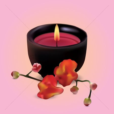 Aroma : Candle and flowers