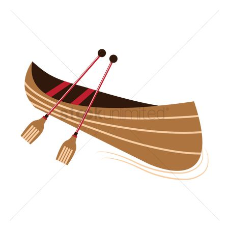 Vessel : Canoe with paddles