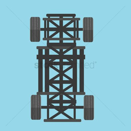 Machineries : Car chassis
