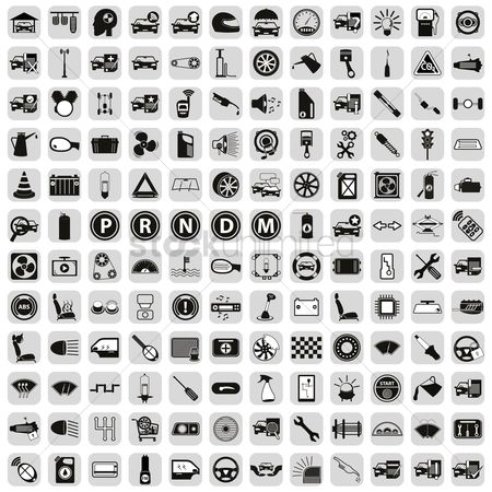Car speedometer : Car parts icon