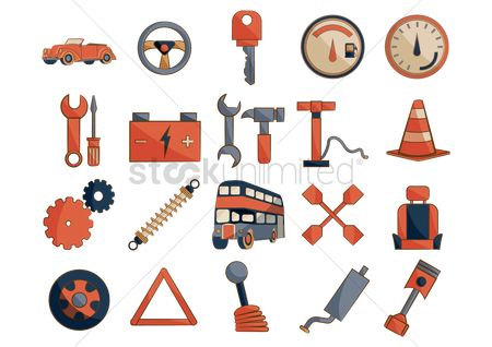 Screwdrivers : Car spare parts icons