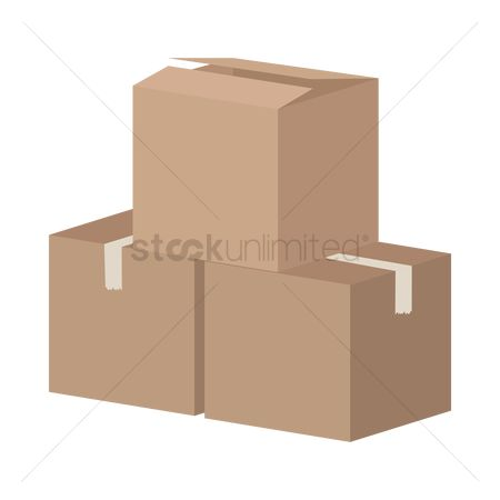 Stack : Cardboard boxes