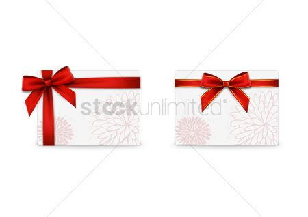 Boxes : Cards with ribbon bows