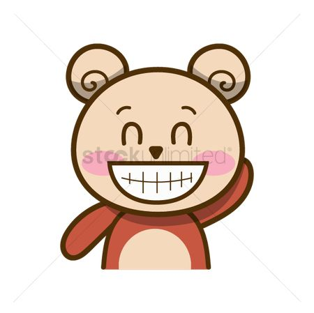 Teddybears : Cartoon bear grinning