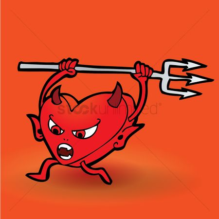 Annoy : Cartoon devil chasing