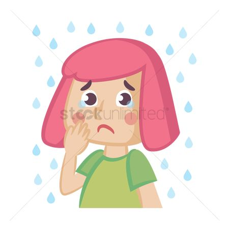Drips : Cartoon girl crying