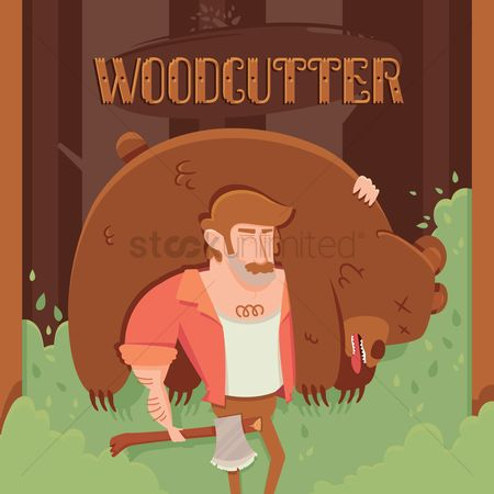 Jack : Cartoon wood cutter
