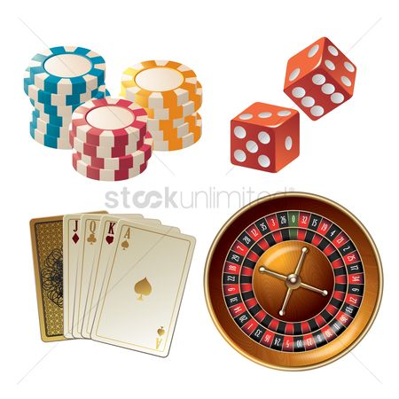 Poker chips : Casino game icon set