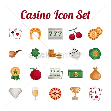 Smoking pipe : Casino icons set
