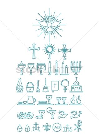 Water drops : Catholic religion icons