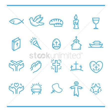 Building : Catholic religion icons