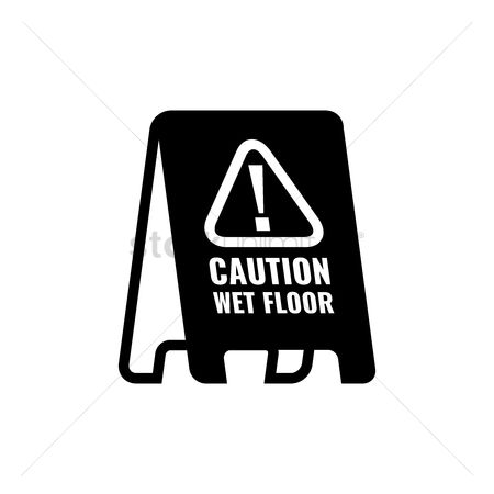 Beware : Caution floor stand