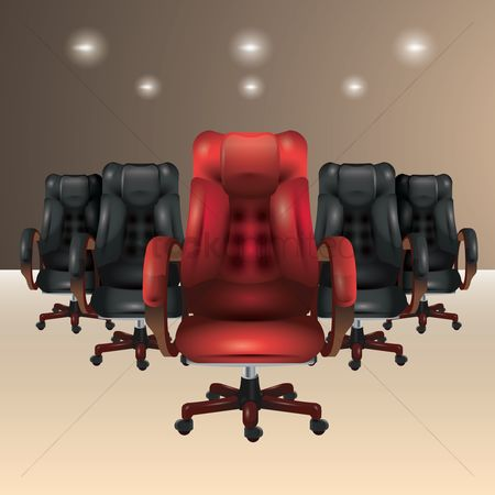 Lights : Chairs in an office