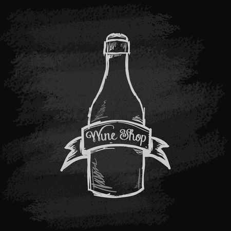 Blackboard : Chalk bottle icon