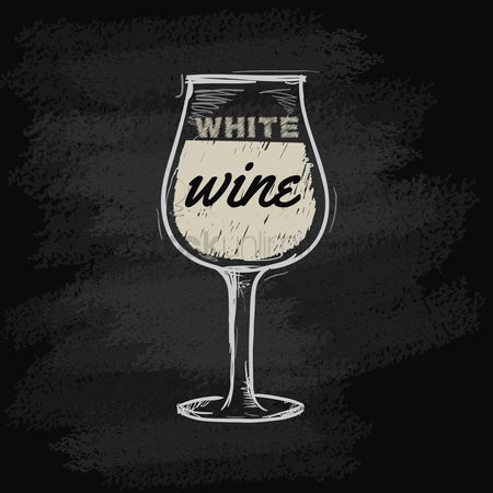 Blackboard : Chalk wine icon