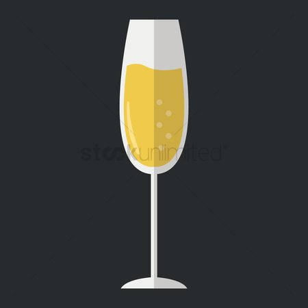 Liquor : Champagne glass
