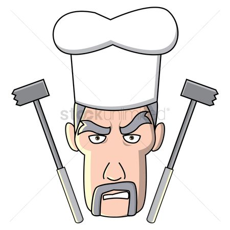 Challenges : Chef with meat hammers