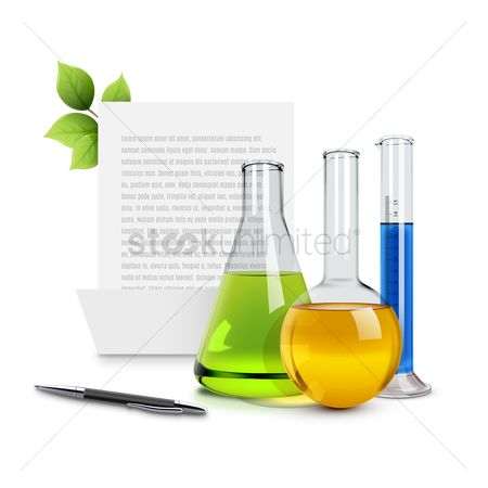 Chemicals : Chemical flask with pen