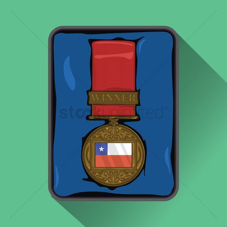 Challenges : Chile flag on medal