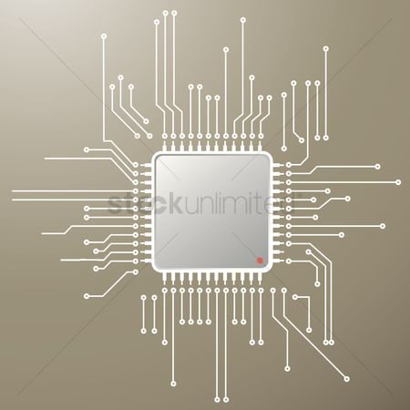 Chip : Chip on circuit board background