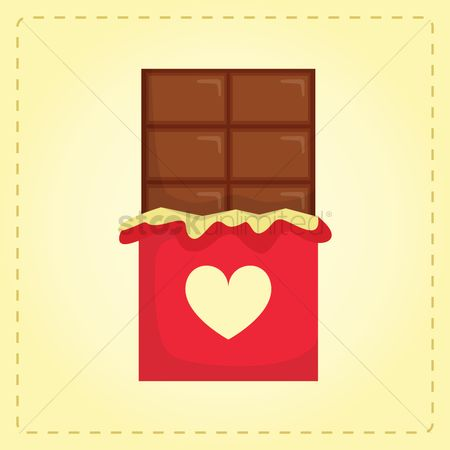 Chocolates : Chocolate gift with a heart