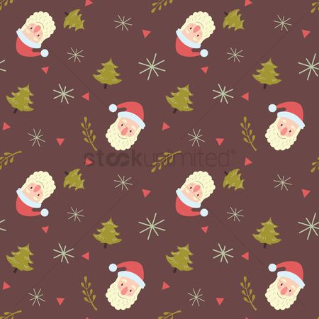 Santa : Christmas background design