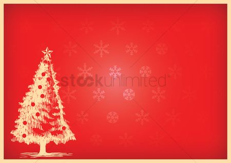 Bauble : Christmas background with a tree