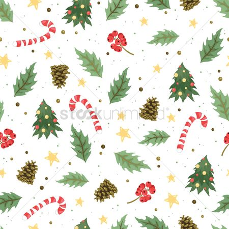 Cones : Christmas background