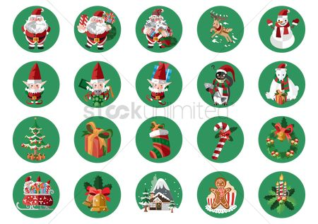 Santa : Christmas icon set