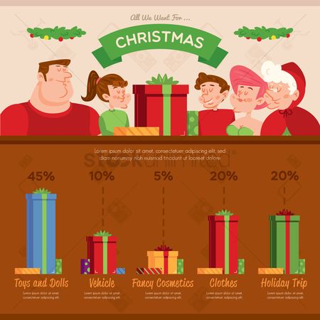 Dolls : Christmas infographic