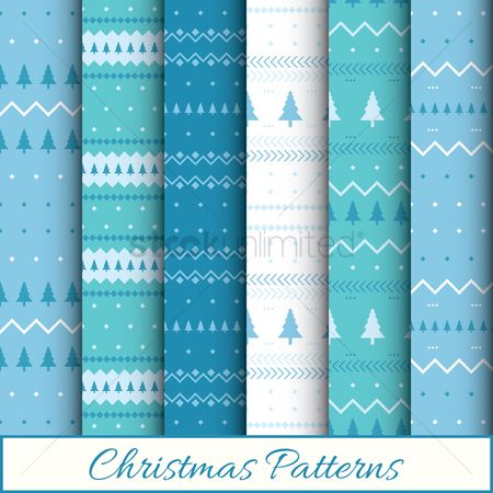 Patterns : Christmas patterns set