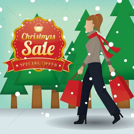 Shopping background : Christmas sale