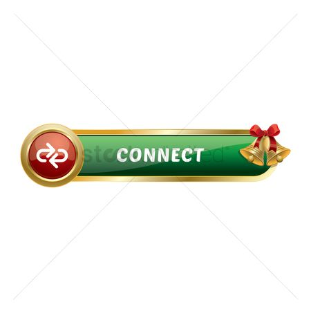 Jingle bells : Christmas themed connect button