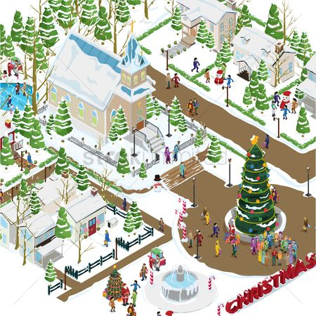 Gifts : Christmas village