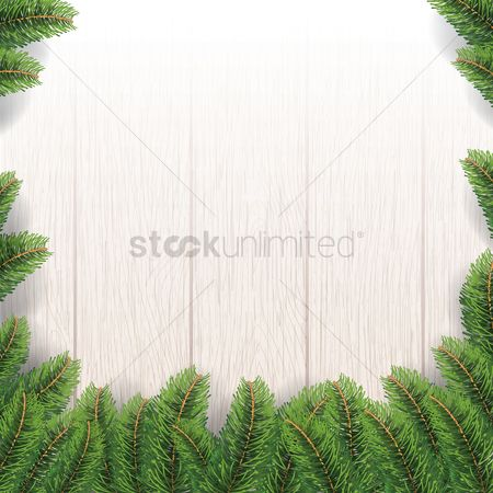 Grass background : Christmas wooden background