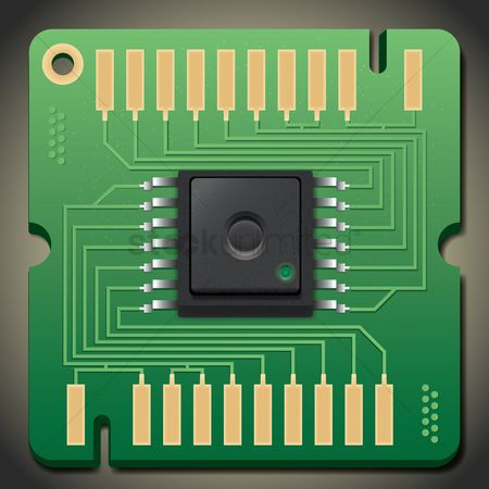 Hardwares : Circuit board with processor