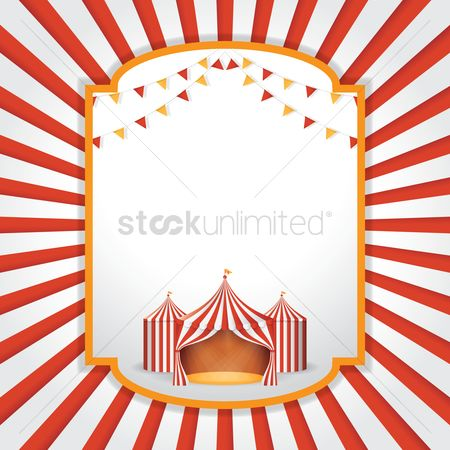 Tents : Circus background design