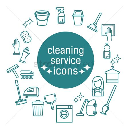 Electronic : Cleaning service icons