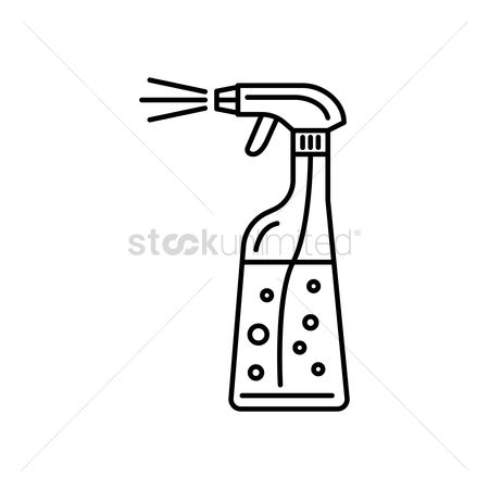 Housekeeping : Cleaning spray bottle