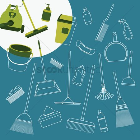 Cleaner : Cleaning supplies
