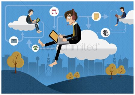 Wireless : Cloud computing concept