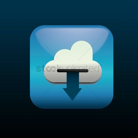 Downloading : Cloud computing download icon