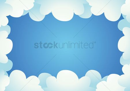 Borders : Clouds border background