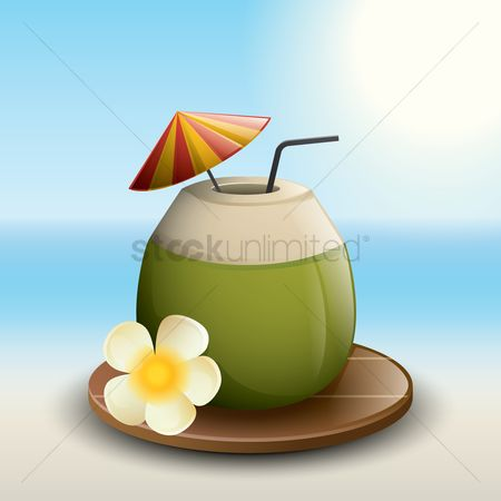 Summer : Coconut cocktail