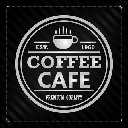 Cafe : Coffee cafe label